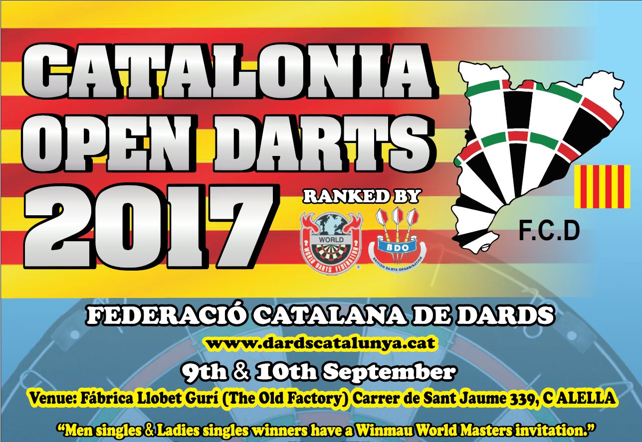 Catalonia Open Darts 2017 <br>Schedule / Programa / Horarios